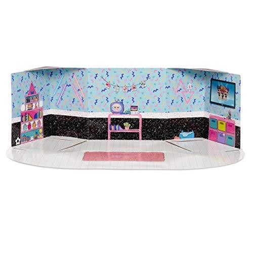 MGA- Meubles L.O.L Chambre à Coucher avec la poupée Neon Q.T. et 10+ Surprises Toy, 561743E7C, Multicolore