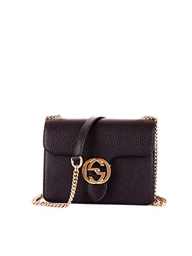 Gucci Luxury Fashion Donna 510304CAOGN1000 Nero Pelle Borsa A Spalla |...