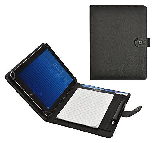 Desq 3688 passend für alle gängigen Tablets bis zu 10.1 Zoll Diversen Fächern auf der rechten Seite, schwarz