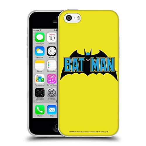 Head Case Designs Officiel Batman DC Comics Classique 2 Logos Coque en Gel Doux Compatible avec iPhone 5c
