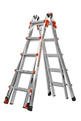 The Model 22 converts to a 19 foot extension ladder - Enjoy an unmatched feeling of stability, dual-pin hinge, wide-flared legs and the highest quality construction.  It is a true two-person ladder Use the Velocity as multiple sizes of A-frame, exten...