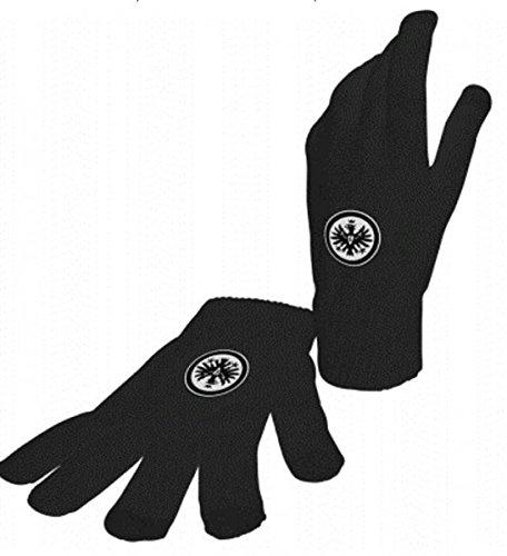Eintracht Frankfurt Smartphonehandschuhe mit Logo - schwarz - Grösse M