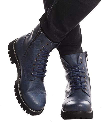 Leif Nelson Herren Schuhe Klassische Stiefel Freizeitschuhe Boots Elegante Winterschuhe Männer Sneakers LN156; 40,Blau