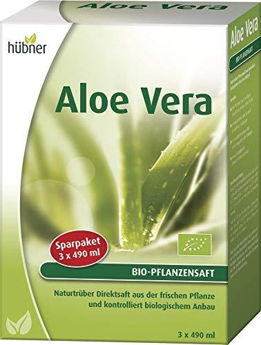 hübner - Aloe Vera BIO-Pflanzensaft DE-ÖKO-003 - Trinksaft - 3x490ml -