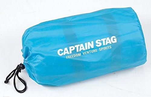 キャプテンスタッグキャンプ用品インフレータブルピロー付インフレーティングマットブルーUB-3028