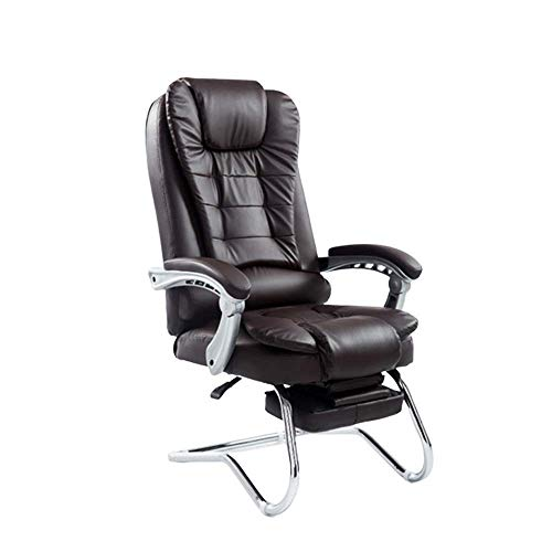 N/Z Home Equipment Executive Office Chair With Footrest High Ergonomic Office Recliner Chair High Back Computer Chair Conference Meeting Chair Boss Manager Executive Task Chair (Color : Black)