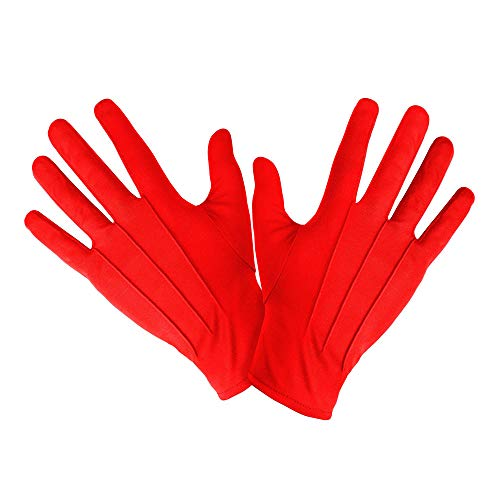 Handschuhe Clown Show Polyester Zyrkus rot red farbig Karneval Fasching Theater