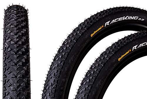 "2 Stück 27,5"" Zoll Continental Race King 2.2 Fahrrad Reifen Mantel Decke Tire 55-584 schwarz"