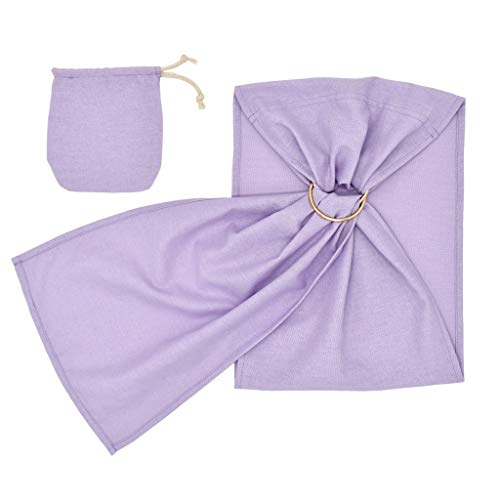 Toddler Baby Linen Solid Doll Carrier Doll Ring Sling Children's Toy Ring Sling Purple