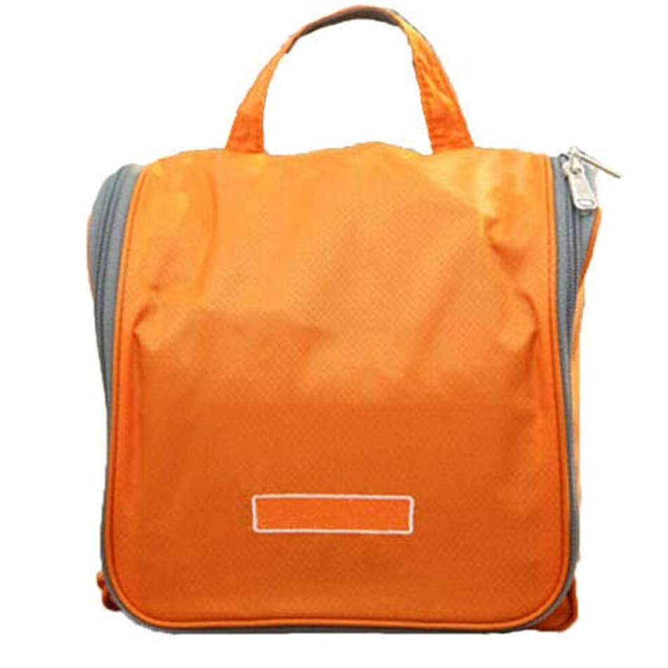 Large Travel Cosmetic Makeup Toiletry Pruse Wash Organizer Storage Hanging Bag (Color - Orange)