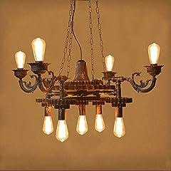KAD Decorative Chandelier-Wandun Pendant Lamp Steampunk Rustic Chandeliers Vintage Industrial Metal Pendant Light Ceiling Hanging Lamp Lampshade f #1