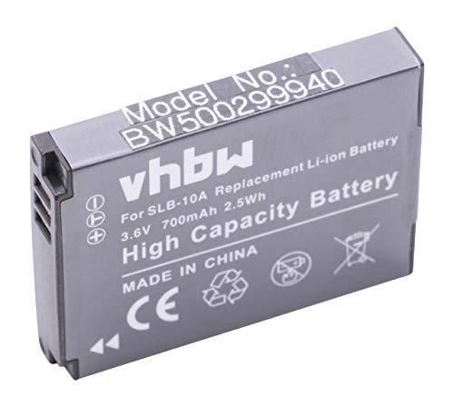 vhbw Li-Ion Batteria 700mAH compatibile con HP Action Cam AC-200, AC-200W, AC-300W sostituisce AT-S60, FJ-SLB-10a