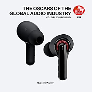 2021 Wireless Earbuds, Tribit Qualcomm QCC3040 Bluetooth 5.2, 4 Mics CVC 8.0 Call Noise Reduction 50H Playtime Clear Calls Volume Control True Wireless Bluetooth Earbuds Earphones, FlyBuds C1 Black