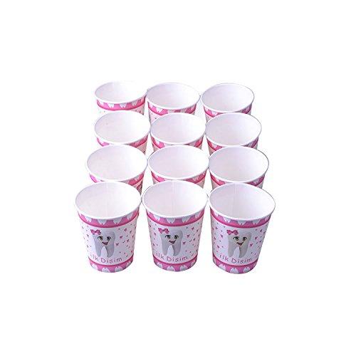 Erster Zahn Pappbecher Pink Becher 0,25 l