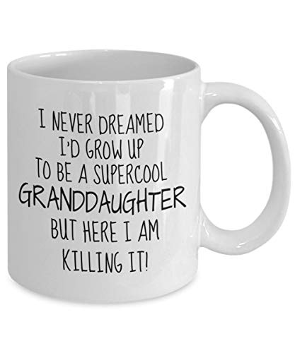 Gift for Granddaughter, Supercool Granddaughter Mug, Gift from Grandmother, Best Granddaughter Christmas Birthday Gift, Funny GranddaughterGreat cup, interesting cup, interesting coffee cup,