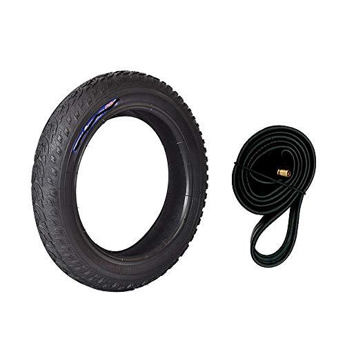 SHKUU Neumáticos Scooter eléctrico Ruedas duraderas, 12 14 16x2.125 Neumáticos Interiores y Exteriores inflables, Caucho Resistente Desgaste, Neumáticos ensanchados Antideslizantes para carritos bebé