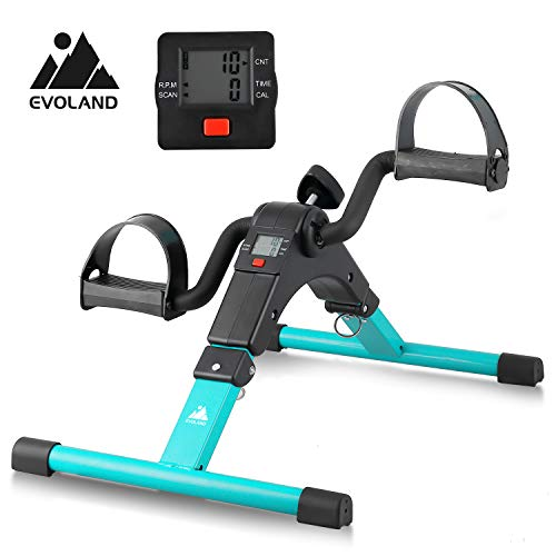 EVOLAND Pedal Exerciser Bike, Portable Home Fitness Mini Exercise...
