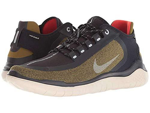 Nike Men's Free RN 2018 Shield Running Shoe Olive/Silver/Black (US 13)