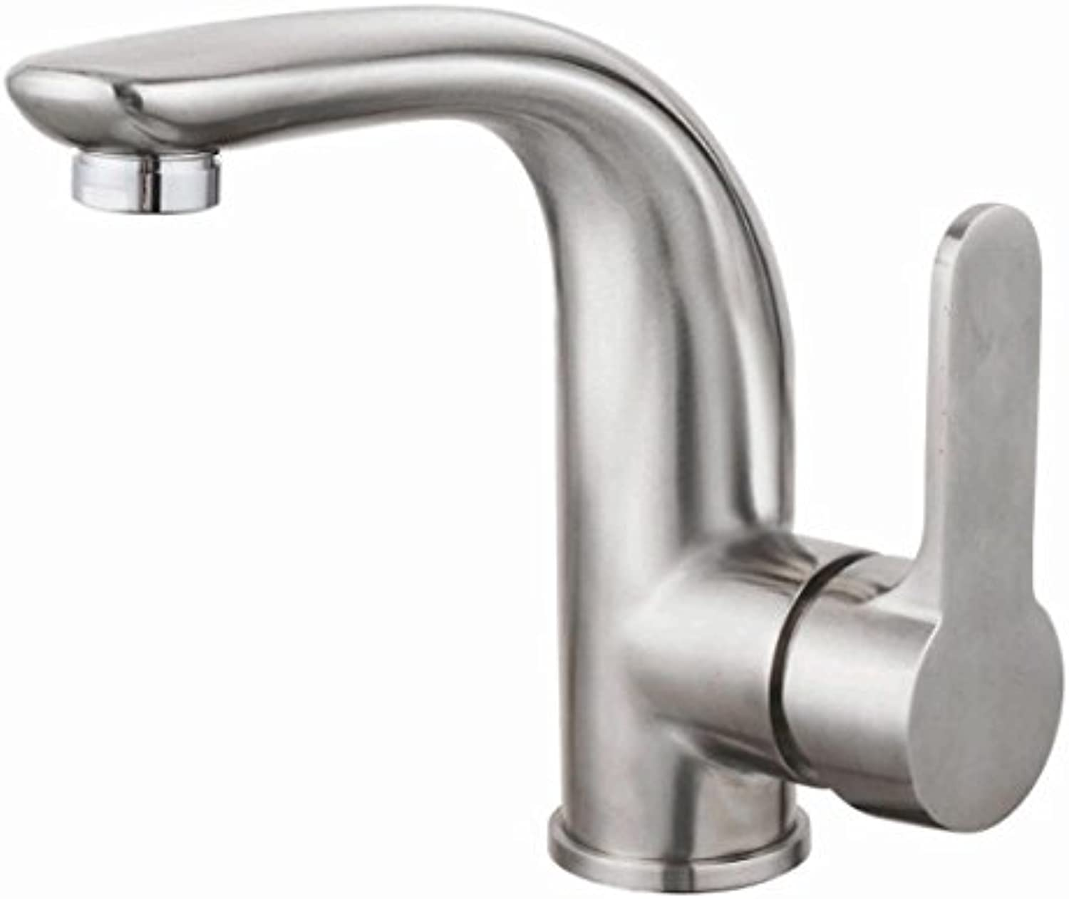 Hlluya Professional Sink Mixer Tap Kitchen Faucet 304 Stainless Steel Basin, the basin mixer, the mixing of hot and cold water faucets, Bathroom Cabinet Faucet