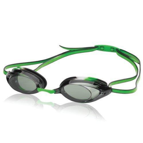 Speedo Unisex-Child Swim Goggles Vanquisher 2.0 Junior Black/Green, One Size