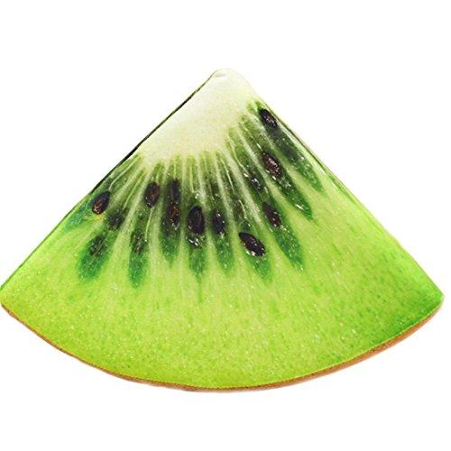 hunpta Fruit Oreiller, 3D Fruits Doux Taie d'oreiller Coussin en Peluche synthétique Orange Pastèque galettes de Décor, b