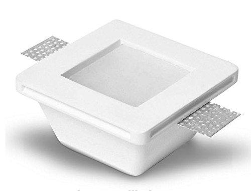 Spot encastrable carré encastrable en plâtre avec verre pour spots GU10 et gU5.3 mod. gqdtl-2006