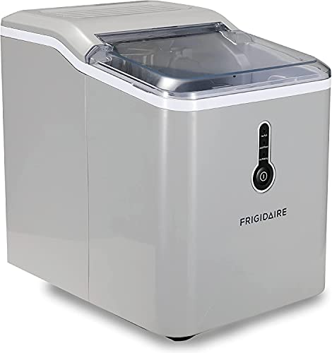 Frigidaire Ice Maker Compact Ice Maker Up to 26 LB of Ice Silver EFIC206-TG-SILVER - (Renewed)