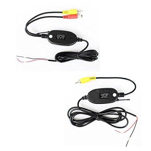 Kalakass, Kit émetteur récepteur vidéo 2,4 GHz, sans fil pour caméra de recul de voiture RCA, moniteur récepteur Cam DVD GPS, lecteur autoradio, module adaptateur