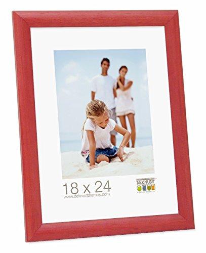 Promo Ideal Marcos de Fotos Marcos de Madera Varios Tamaños + Colores - Rojo, 18x24