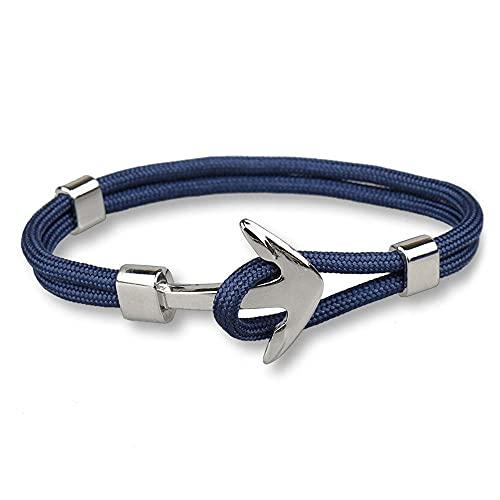 Pulsera para hombre con cuerda azul y ancla marina Malaga