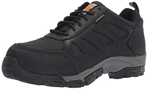 Carhartt Men's Lightweight Wtrprf Low-Height Work Hiker Carbon Nano Safety Toe CMO3481 Industrial Boot, Black Leathe/Nylon, 10.5 M US