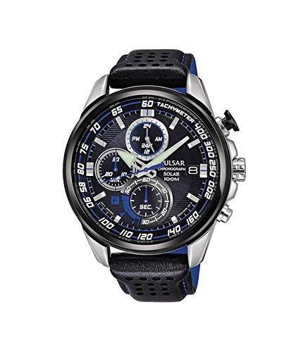 Pulsar Herren Analog Quarz Uhr mit Leder Armband PZ6007X1