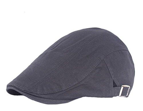 Leisial Hombre Boinas al Aire Libre del Algodón Gorra de Béisbol Sección Delgada de Verano Sombrero de Sol de Deport Gorra Cap para Unisexo Negro