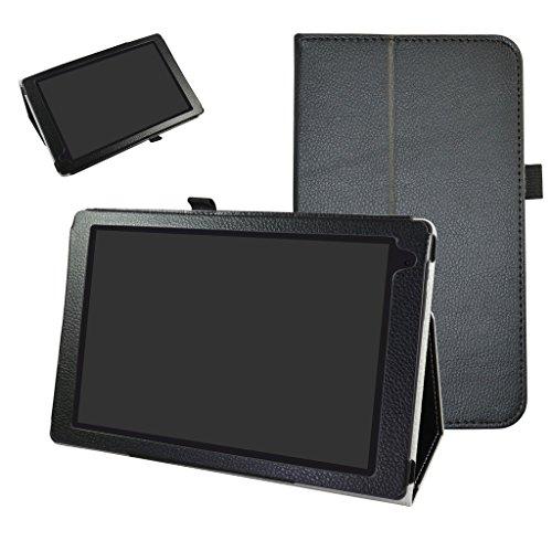 """MAMA MOUTH Archos 101b Oxygen Coque, Slim Folio PU Cuir Debout Fonction Housse Coque Étui Couverture pour 10.1"""" Archos 101b Oxygen Android 6.0 Tablet PC,Noir"""