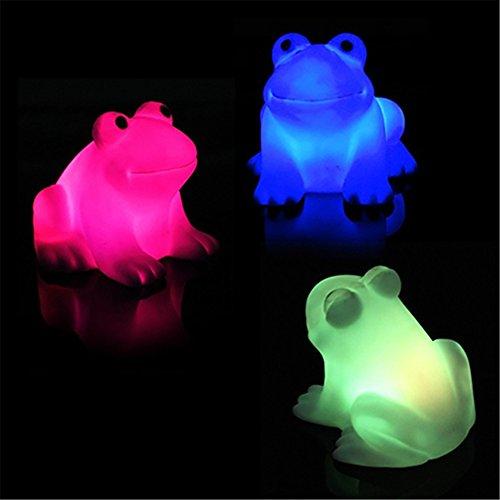 Nuohuilekeji Süßes Frosch-Nachtlicht, LED-Licht, wechselnde Farben, bunte Lampe, zauberhaftes Geschenk