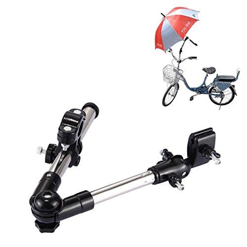 Imagen para Soporte para paraguas totalmente ajustable, de T2O®, con sistema de montaje para carro de golf, silla de ruedas, silla de paseo, etc.