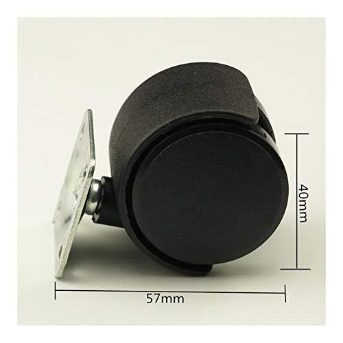 JYSLI Kommt 4PCS Kunststoff schwarz 40mm Ersatz-Brems Swivel CastersRolling Roller Caster Bürostuhl Sofa Räder for Plattformwagen schwer (Color : Black)