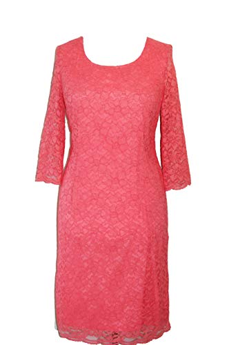 TAIFUN by Gerry Weber Spitzenkleid Gr. 42 Koralle Cocktailkleid Damenkleid Kleid