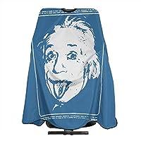 Albert Einstein 散髪ケープ ヘアエプロン 散髪マント シャンプーケープ 毛染めケープ サロン ヘア エプロン 散髪 ヘアーエプロン 折り畳み可能 自宅手軽に散髪 後片付け 簡単