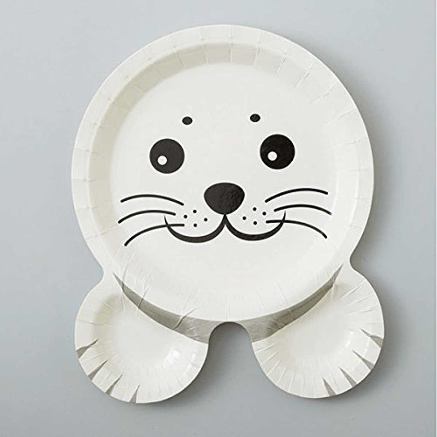 ジャンルハロウィン現実的紙皿12枚入 アザラシ?ペンギン?ウミガメ