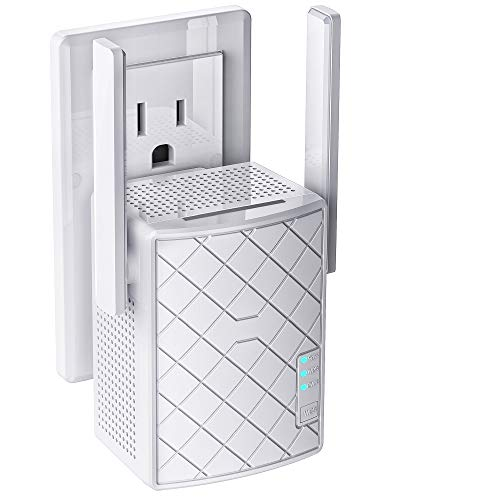 Nextbox WiFi Extender 750 Mbps - 2.4 & 5GHz Dual Band Network - Signal Booster WPS Quick Connection, LAN/Ethernet, Wireless Repeater up to 3000sq.ft Range & 32 Devices, Alexa Compatible (White)