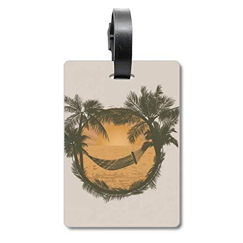 Kokosnoot boom wolk hangmat strand cruise koffer tas Tag Tourister identificatie label