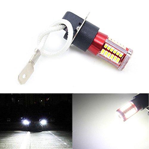 SODIAL 1 paire H3 4041 SMD 57 LED Ampoules XENON lampe antibrouillard 12V-24V blanc 6000K de voiture