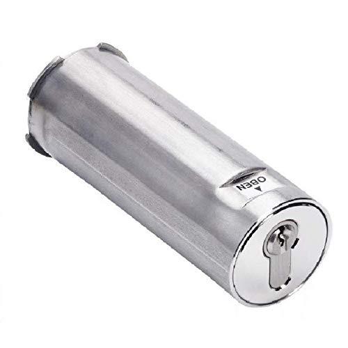 Rohrtresor + Schlüsselsafe für Profilzylinder, für den Wandeinbau, komplett aus Edelstahl