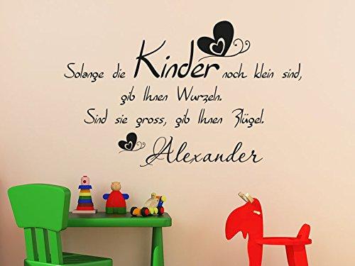Klebeheld® Wandtattoo Solange die Kinder noch klein sind, gib ihnen Wurzeln. Sind sie groß, gib ihnen Flügel. No. 2