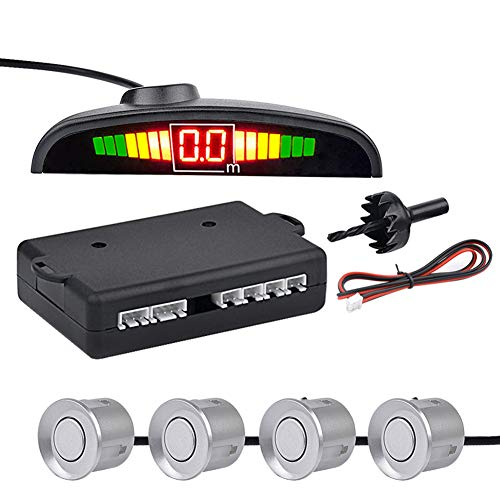 Check Out This WPFC Car Auto LED Parking Sensor with 4 Sensors, Reverse Backup Car Parking Radar Mon...
