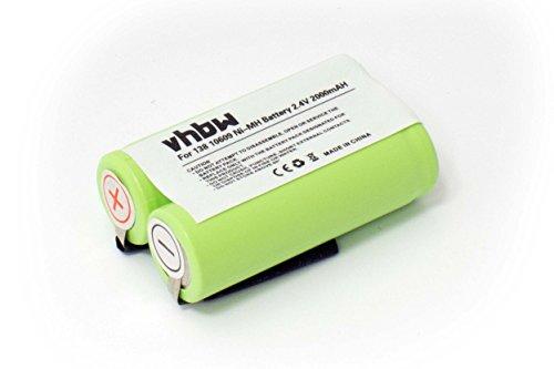 vhbw NiMH Akku 2000mAh (2.4V) für Rasierer, Zahnbürste Philips Philishave HQ6763, HQ6764, HQ6770, HQ68, HQ6828XL, HQ6830, HQ6832 wie 138 10609.