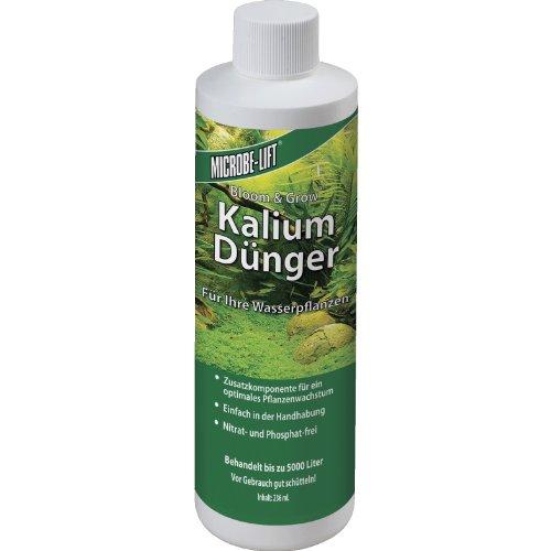 MICROBE-LIFT Plants K - Pflanzendünger - (Qualitäts-Kaliumdünger für alle Arten Wasserpflanzen in jedem Süßwasser Aquarium, sorgt für einen üppigen Pflanzenwuchs und beugt einem Kaliummangel Ihrer Wasserpflanzen nachhaltig vor, Wasseraufbereiter, aus