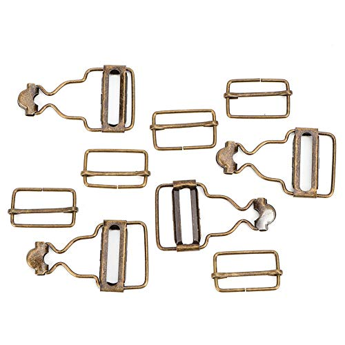 Hebillas de correa Clip de metal Tirantes de metal Hebilla de metal Hebillas para coser Chaquetas Monos Bib Pantalones Jeans Ropa para niños(古铜色内径2.7CM1套)