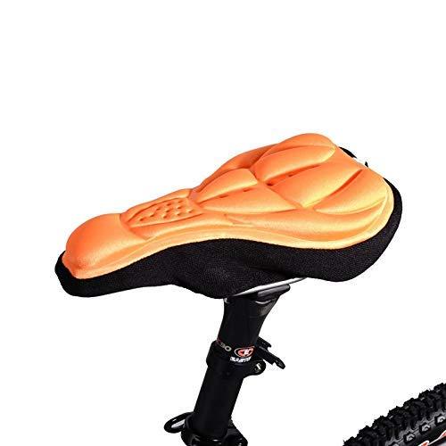 Cómodo Asiento de Bicicleta para Hombres y Mujeres, sillín de Bicicleta con Gel Funda de sillín de Bicicleta Almohada cómoda Almohada Suave Respirable 3D
